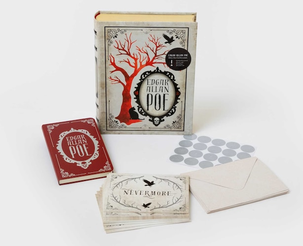 Edgar Allan Poe Deluxe Note Card Set (With Keepsake Book Box) by Insight Editions
