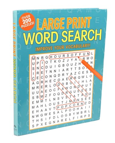 Large Print Word Search by Editors Of Thunder Bay Press