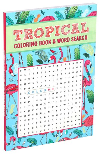 Tropical Coloring Book & Word Search by Editors Of Thunder Bay Press