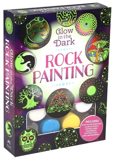 Glow in the Dark Rock Painting by Katie Cameron