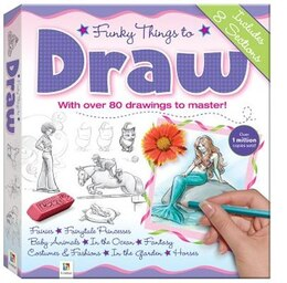 Book Funky Things To Draw Binder by Hinkler Books