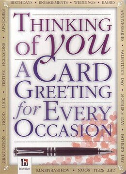 Book Thinking Of You A Card Greeting For Ever by Na