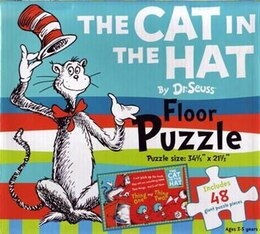Book Dr Seuss Floor Puzzle Cat In The Hat by Seuss