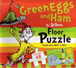 Book Dr Seuss Floor Puzzle Green Eggs & Ham by Seuss