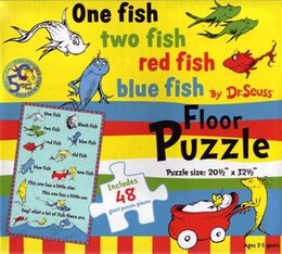 Book Dr Seuss Floor Puzzle One Fish, Two Fish by Na