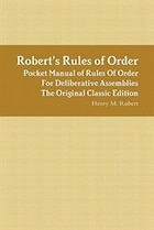 Robert's Rules Of Order - Pocket Manual Of Rules Of Order For Deliberative Assemblies - The…