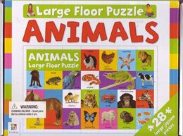 Book GIANT FLOOR PUZZLE ANIMAL by Books Hinkler