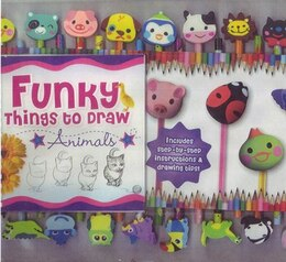 Book FUNKY THINGS TO DRAW PENCIL SET ANIMALS by Studios Hinkler
