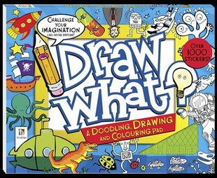 DRAW WHAT DOODLING DRAWING & COLOURIN