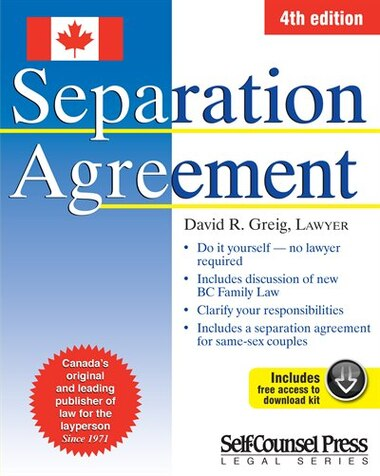 Separation Agreement Book By David R Greig Perfect Chapters