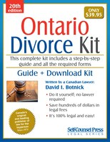 Divorce kit in all shops chaptersdigo divorce kit for ontario guide forms on cd rom solutioingenieria Image collections