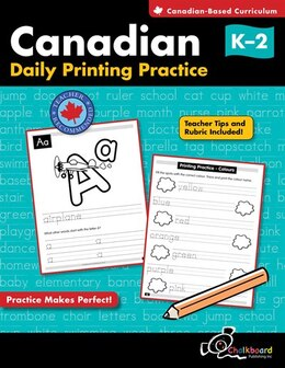 Book Canadian Daily Printing Practice Grades K-2 by Demetra Turnbull
