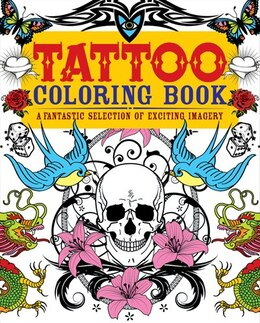 Book Tattoos Coloring Book by Publishing Arcturus