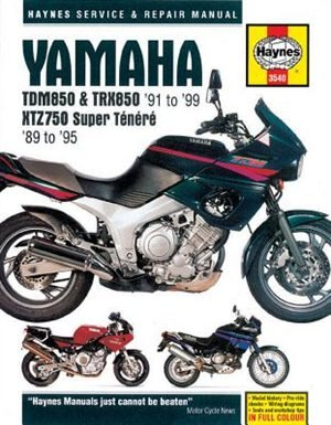 Yamaha Tdm850 & Trx850 '91 To '99 And Xtz750 Super Tenere '89 To '95 by Editors Of Editors Of Haynes Manuals