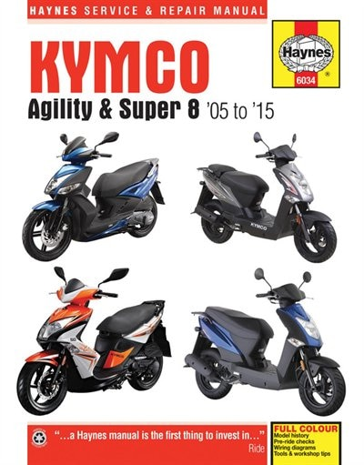 Kymco Agility & Super 8 Scooters, '05-'15 by Haynes Publishing