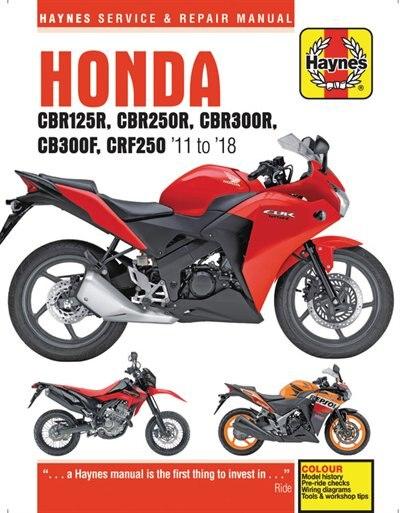 Honda Cbr125r, Cbr250r, Cbr300$, Cb300f & Crf250, '11 To '18: '11 To '18 by Editors Of Haynes Manuals
