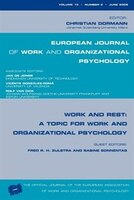 Work and Rest: A Topic For Work And Organizational Psychology: A Special Issue Of The European…