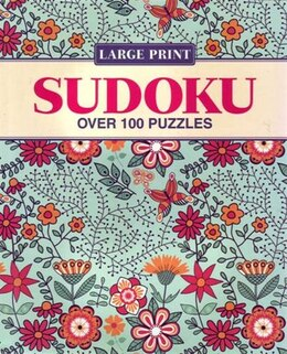 Book Large Print Floral Sudoku by Arcturus Publishing