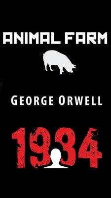 Book Animal Farm & 1984 by George Orwell