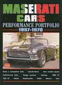 Maserati Cars 1957-1970 -Performance Portfolio by R.M. Clarke