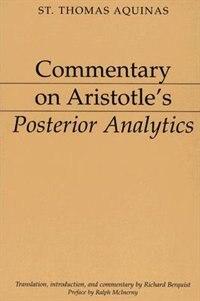 Commentary On Aristotle's Posterior Analytics