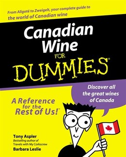 Book Canadian Wine for Dummies by Tony Aspler