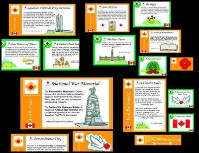 Canadian Remembrance Day Bulletin Board Set by Demetra Turnbull