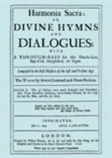 Harmonia Sacra or Divine Hymns and Dialogues. with a Through-Bass for the Theobro-Lute, Bass-Viol, Harpsichord or Organ. Book II. [Facsimile of the 1726 edition, printed by William Pearson.] by Henry PURCELL