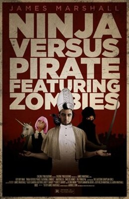 Book Ninja Versus Pirate Featuring Zombies by James Marshall