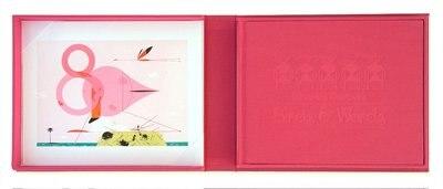 Charles Harper's Birds & Words: W Flamingo Print
