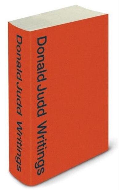 Donald Judd Writings by Donald Judd