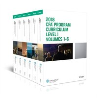 CFA Program Curriculum 2018 Level I, Volumes 1 - 6 Box Set