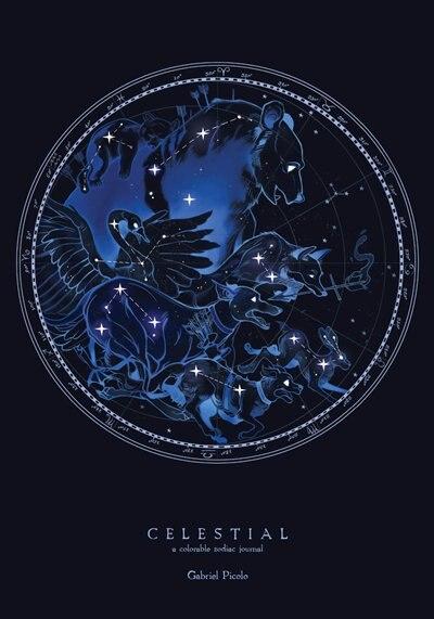 Celestial: A Colorable Zodiac Journal, Book by Gabriel