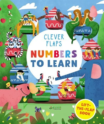 Numbers To Learn: Lift-the-flap Book by Lidiya Larina