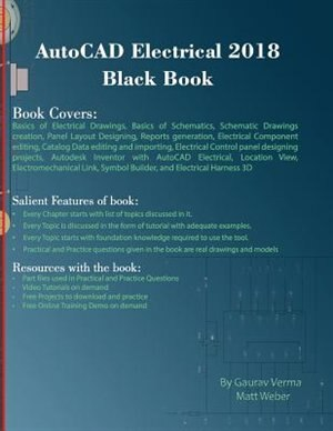 AutoCAD Electrical 2018 Black Book, Book by Gaurav Verma (Paperback ...