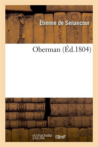 Oberman by Etienne Pivert De Senancour