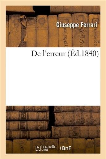 de L Erreur by Giuseppe Ferrari
