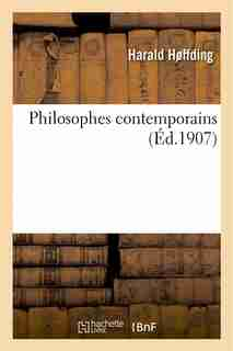 Philosophes Contemporains by Harald Hoffding