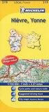 Map Of Yonne France.Michelin France Nievre Yonne Map 319 Book By Michelin Michelin