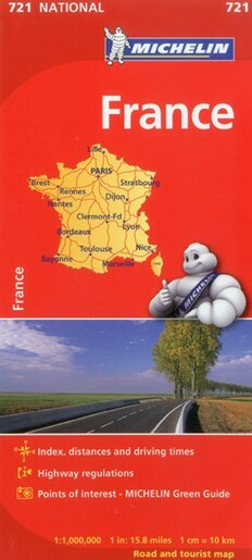 Clear Map Of France.Michelin France Map 721
