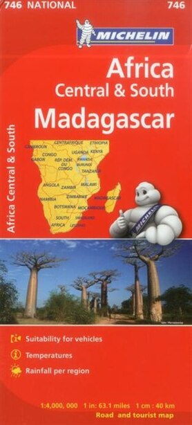Michelin Africa Central South And Madagascar Map 746 by Michelin Michelin