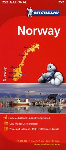 Michelin Norway Map Book By Michelin Michelin Map - Michelin norway map 752