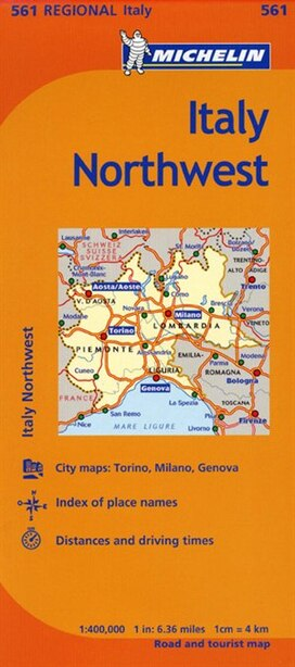 Michelin Italy: Northwest / Italie: Nord-ouest Map 561 by Michelin Michelin