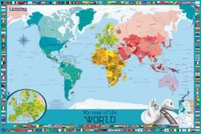 Travel maps in all shops chaptersdigo my map of the world childrens wall gumiabroncs Image collections