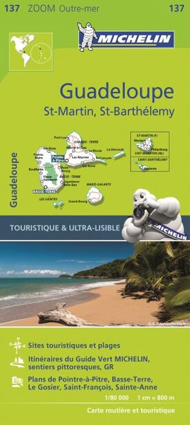 Michelin Zoom Guadeloupe Map 137 by Michelin