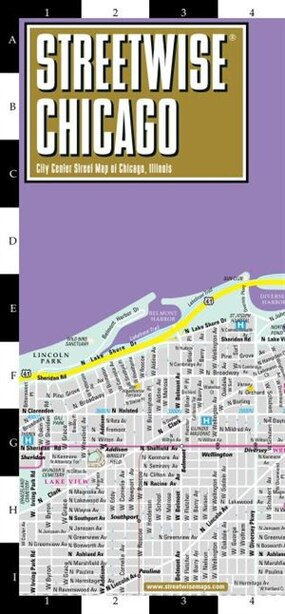Streetwise Chicago Map by Michelin