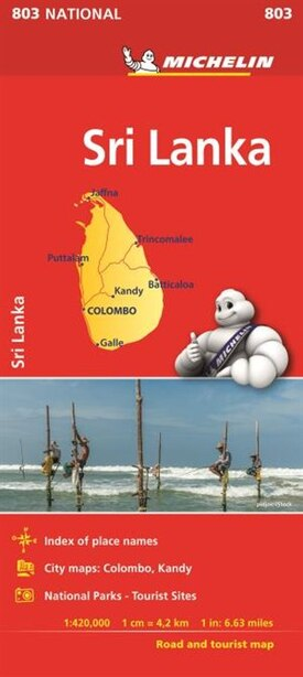 Michelin Sri Lanka Road And Tourist Map No. 803 by Michelin