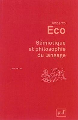 Book Sémiotique et philosophie langage by Umberto Eco