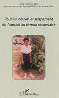 Pour un nouvel enseignement du français au niveau secondaire