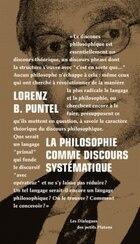 Philosophie comme discours systématique (La)